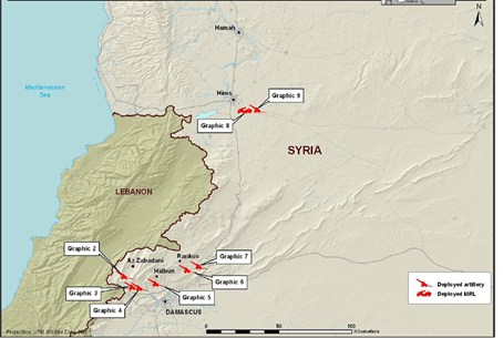 Syrian gov't artillery operations Feb 8 2012