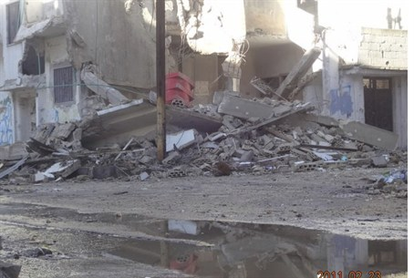 Syrian gov't shelling of Baba Amr