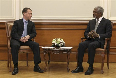 Medvedev and Annan