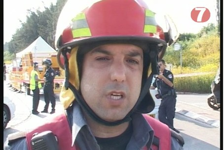 Firefighter in Ra'anana
