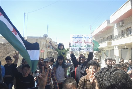 Protesters Demand Ceasefire in Idlib, Syria o
