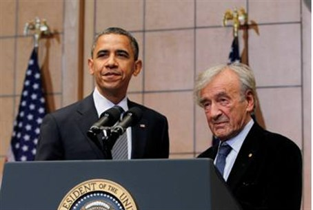 Obama and Elie Wiesel at the US Holocaust Mus