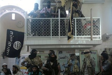 Members of an Al Qaeda-linked group inside a