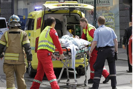 Self-immolating man evacuated in Oslo