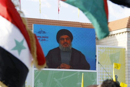 Nasrallah addresses supporters via video in B