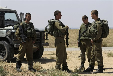 Soldiers in Gaza
