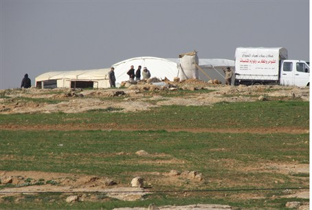 Illegal Arab construction near Susya