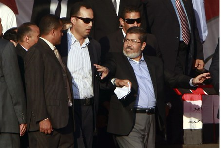 Morsi at Tahrir Square