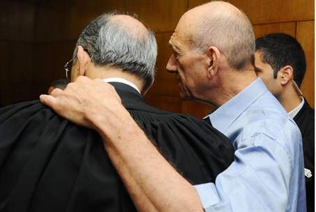 Olmert and his lawyer