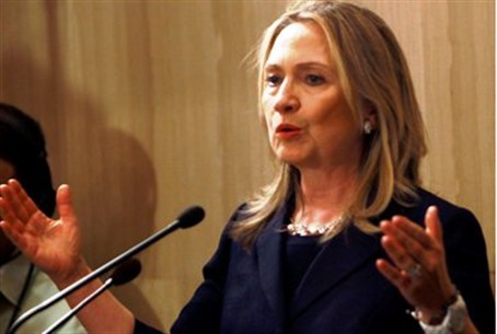 Clinton in Egypt prior to departing for Israe