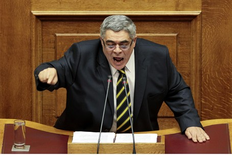 Leader of the extreme right Golden Dawn party