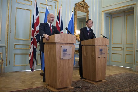 Britain's Foreign Secretary William Hague and