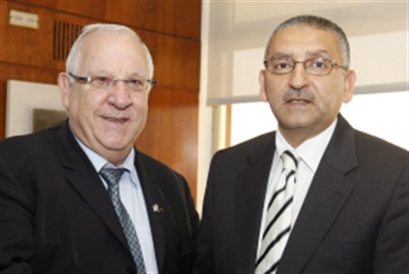 Outgoing amb. Rida with Knesset Speaker.