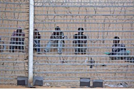 Eritreans camped between Israel and Egypt