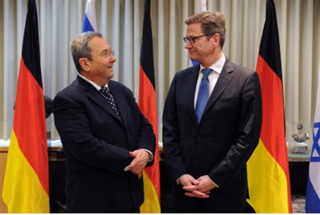 Barak with Westerwelle