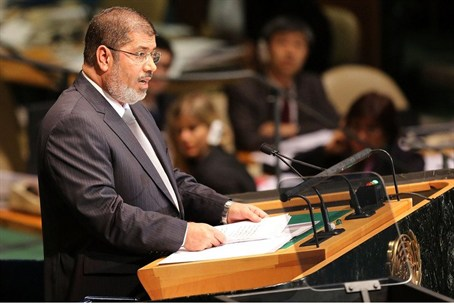 Egyptian President Mohammed Morsi at the Unit