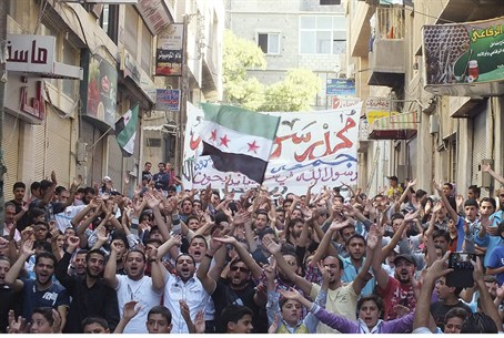 Anti-Assad demonstration in Yabrou