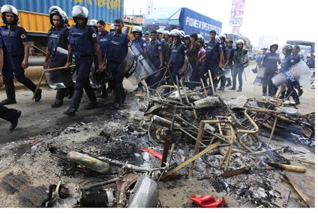 Rioting in Bangladesh