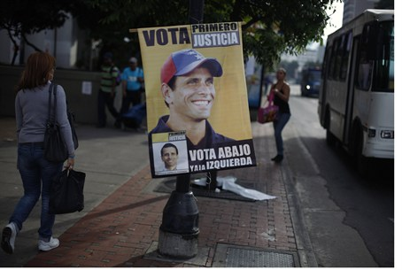 Poster for Henrique Capriles as president in