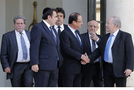French Pres. Hollande meets with Jewish leade