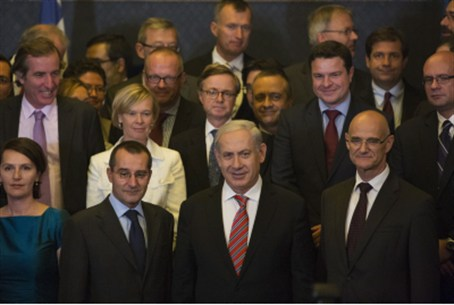 Netanyahu and EU diplomats