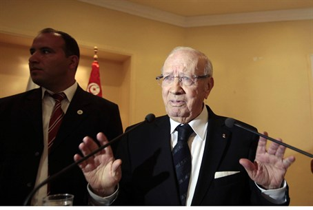Former Tunisian Prime Minister Beji Caid Esse