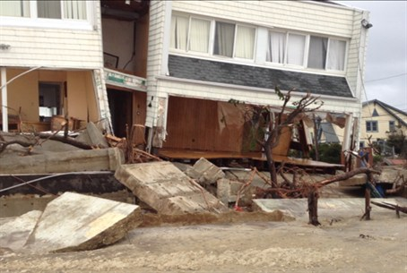 The coastal neighborhood of Seagate was hit h
