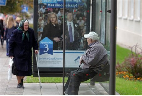 Bus stop in Lithuania
