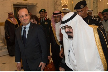 Saudi King Abdullah and French President