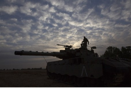 IDF tank outside Gaza