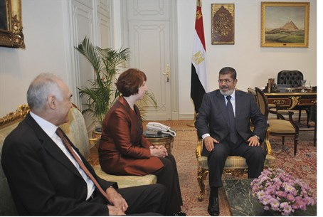 EU chief Ashton, Egyptian leaders