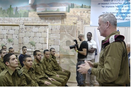 IDF Chief of Staff Benny Gantz w/recruits