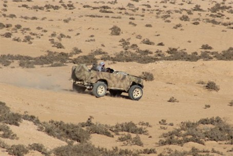 Bedouin ATV in IDF base.
