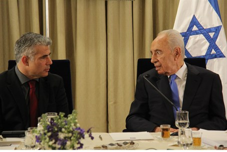 Yair Lapid and President Shimon Peres