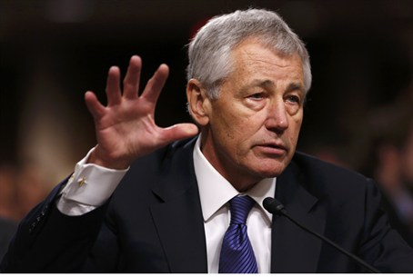 Chuck Hagel at Senate hearing