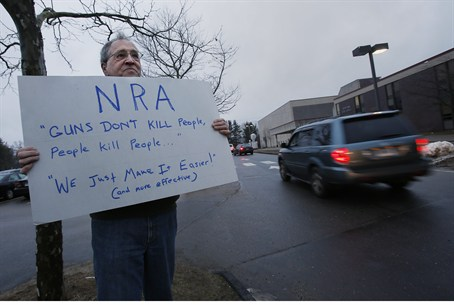 Protester appeals for gun control