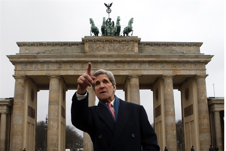 John Kerry is on his first official trip as S