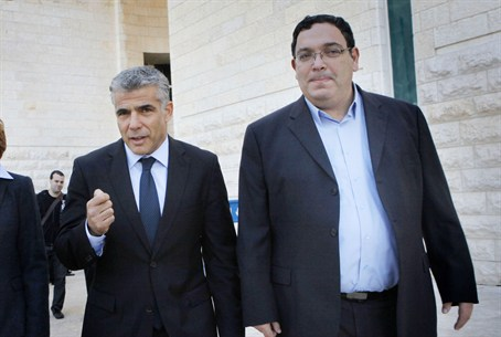 Yair Lapid, Shai Piron and Yael German