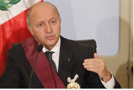French FM Laurent Fabius