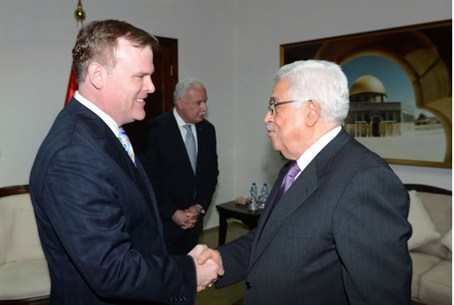 Canadian FM John Baird and PA Chairman Abbas