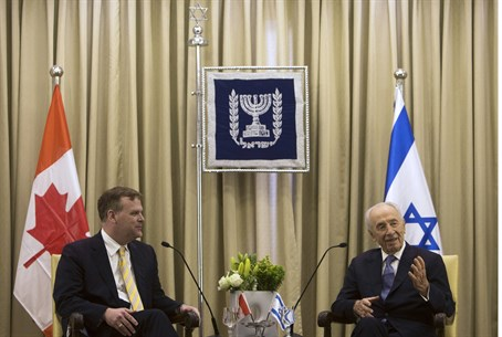 President Peres and Canadian FM John Baird