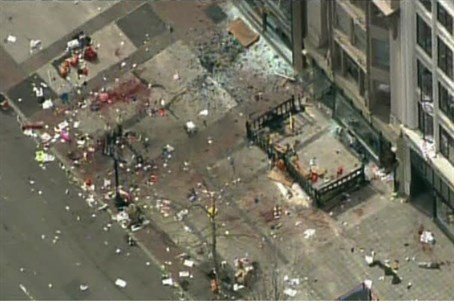 Site of Boston explosion