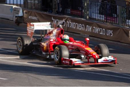 Racing car in Jerusalem