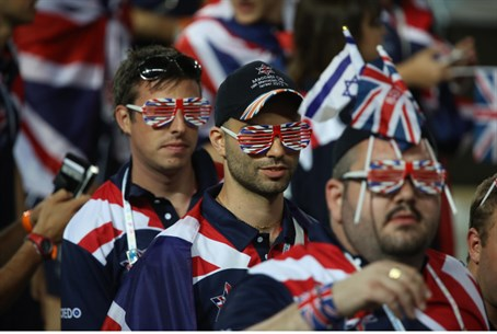 Team GB fans and members at the openingof the