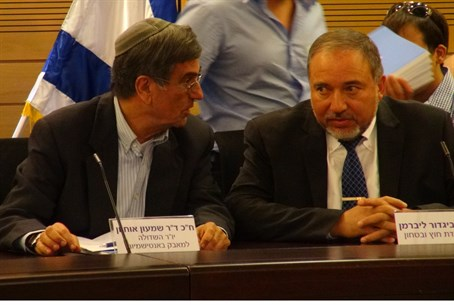 MKs Shimon Ohayon and Avigdor Lieberman