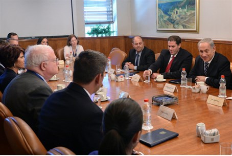 Netanyahu meets with a delegation of U.S. con