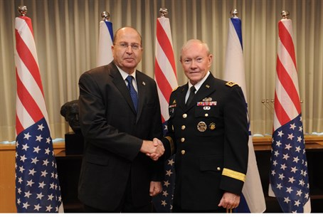 Defense Minister Mosshe Yaalon meets US Gener