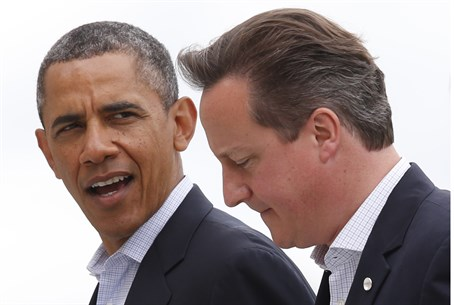 U.S. President Barack Obama and British Prime