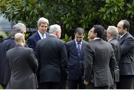 Kerry with Arab League ministers
