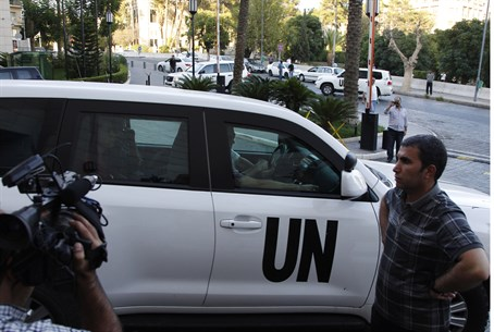 UN chemical inspectors in Syria